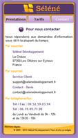 Site pour mobile de la société séléné développement